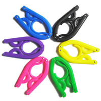 Wholesale 1Set Plastic Folding Clothes Hanger for Travel Holder Traveling Foldable Coat Hanger Clothes Rack