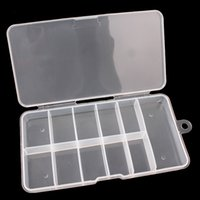 Wholesale Clear Nail tool Plastic storage box Earring jewelry Compartments Nail Art Tips Case Container Can Accommodate False Nail