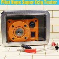 Wholesale New Pilot Vape Super Ecig Tester Coil master Rebuildable Tab Ohm meter OLED screen Vapors Mods RDA atomizer Multi functional Device DHL