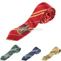 Wholesale Harry Potter Necktie Gryffindor tie Slytherin Ravenclaw Costume Accessory tie