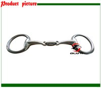 Wholesale SS eggbutt bit double broken mouth with elliptical link Horse product horse racing product BT0318