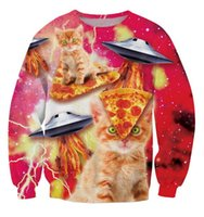 bacon - Harajuku New Bacon Pizza Space Cat crewneck sweatshirt Fashion Cartoon d hoodies women moleton masculino plus size S XXL FG1510