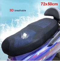Wholesale 3D mesh Motorcycle Seat Cover Motorbike scooter Seat Covers Black Seat Cover breathable and heat insulation cm