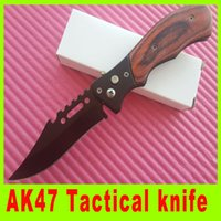 Cheap Hiking knife AK47 type Tactical Folding Blade Knife side open camping Utility outdoor gear knife best christmas gift 664L