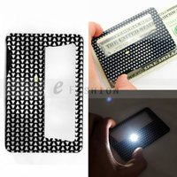 Wholesale New Useful Credit Card x x Magnifying LED Light Jewelry Loupe Convenient Magnifier