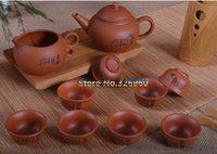 Wholesale China High grade Purple Sand Tea Set Purple Clay Kung Fu Tea Set Teapot Purple Grit Teapot Teacup Handmade Ceramic Tea Set