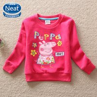 100% cotton shirt fabric - new kids t shirts baby girls clothes with winter thickening corduroy fabric fashion long sleeved girl embroidered cotton T shirt F4099