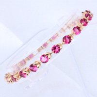 beautiful gift items - Hotselling Rose Crystal nobby charm bracelets Ruby k Gold Plated beautiful gift dinner item Health Fashion jewelry TB509