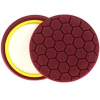 Wholesale 8Pc Brown Inch mm Hex Logic Buffing Polishing Pad kit For Car Polisher