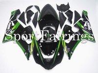 zx6r fairing - Injection Fairings For Kawasaki Ninja ZX R ZX6R Year Sportbike ABS Motorcycle Full Fairing Kit Bodywork Cowing Green Black