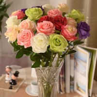 Wholesale New Artificial Fake Silk Circle Center Rose Flower Bouquet For Home Wedding Decor Table Centerpieces Decoration color to choose