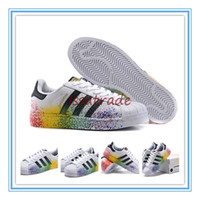 fabric painting - 2015 Release Originals Superstar Rainbow Paint Men s Athletic Shoes Men Casual Skate Board Shoes D70351 Size
