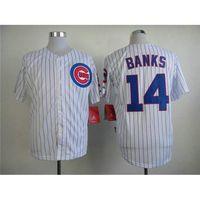 bank uniforms - Hottest Ernie Banks Baseball Jerseys Chicago Cubs Team Uniforms Discount Baseball Shirts High Quality Athletic Jerseys Mens Uniforms