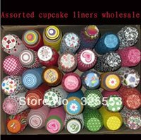 Wholesale 1000pcs cupcake liners cupcake box cupcake papers decorations for wedding Random send you designs for each one