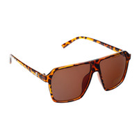 yellow frame sunglasses - Vintage Sunglasses For Men And Women Fashion UV400 Protection PC Frame Resin Lenses Leopard Print Sunglasses Tawny Black Yellow