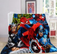 Wholesale Super Soft Thick Flannel Blanket cm cm kg American Super Hero Printed Multifunction Child Student Blanket