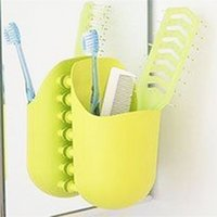 beverage cleansers - 1PC New Toothbrush Holder Toothpaste Holder Facial Cleanser Box Suction Cup Storage Rack