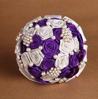 Wholesale Contrast Color Bridal Bouquet Handmade Pearl Button pc B21