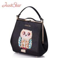 just star bag - Just star Women PU Leather Handbags Owl Diamonds Small Tote Shoulder Bag Ladies Brand Crossbody bags Female Bolsas JZ5872