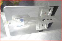 Wholesale 1 pieces European size car license frame Chrome Car license plate RoHS pro environment ABS FFF M27891