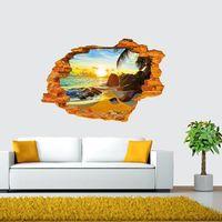 beach nature - S5Q Creative D High Quality Wall Stickers Sunshine Beach Wall Stickers Home Decor AAAFUN