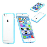 Wholesale Transparent Case Bumper Perfect Colorful TPU PC Matching for iPhone quot iphone plus inch
