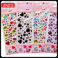 adhesive magnets - 5 pieces Bling Bling D crystal sticker rhinestone car decal Fridge magnet Round heart shape Home Decoration