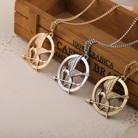 Wholesale The Hunger Games Necklace Hunger Games II Bronze Vintage Brave Bird Necklace Cute Gift Golden Silver Bronze Chain
