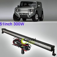 Cheap 51 Inch 300W Offroad LED Light Bar 12V 24V Combo Beam Car Auto DRL SUV ATV 4WD Truck 4X4 Auxiliary Bumper Driving Lamp For Jeep