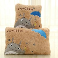 Wholesale My Neighbor Totoro Lovely yellow square and rectangle plush pillow