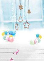 bell background - 600CM CM backgrounds Pentagram necklace colored ball ornaments bells photography backdrops photo LK