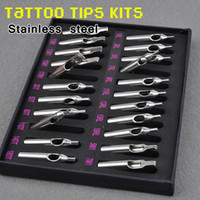 Wholesale High Quality Tattoo Stainless Steel Nozzle Tips One Set Different Sizes Tattoo Supply
