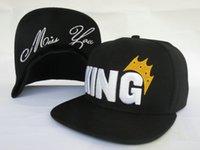 Nueva llegada Rey Logo Snapbacks Sombrero gorras hip hop de moda más populares de alta calidad baratos sombreros para el sol 4 estilos capsula el envío libre