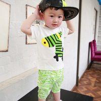 clothing - Kids Outfits Children Clothes Kids Clothing Short Sleeve T Shirt Korean Boys Girls Summer Shorts Children Set Kids Suit Outfits C5068