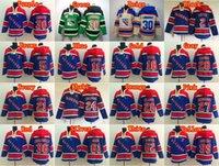 61 - New York Rangers Henrik Lundqvist Hooded Mats Zuccarello Hoody Old Time Rick Nash Pullover Sweatshirt Martin St Louis