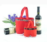 best holiday wines - Best Selling New Christmas wine bottle gift bag wedding holiday new year candy bag high quality