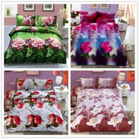 Cheap Wholesale-3d oil Animal   Plant bed set,cotton painting bedding sets bedclothes king size bed linens Duvet cover sets bed