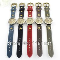 Wholesale Min Order Antique Individual Colorful Leather Quartz Beauty Pattern Wrist Watches For Men and Women