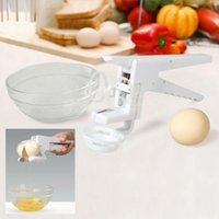 Wholesale New Kitchen Gadgets Egg Cracker EZ Cracker with Separator Home Dining Kitchen Gadget Tool Cooking Tools