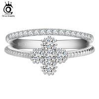asian sweets - ORSA New Arrival Women Wedding Rings Platinum Plated Clear Zircon Sweet Flower Shape Ring for Ladies OR64