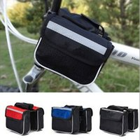 Wholesale Panniers Bags Outdoor Cycling Equipment Bicycle Accessories Double Saddle bags Phone Bags Color For Choose