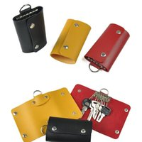 Wholesale 3 Colors High Quality Unisex Leather Key Wallet Cowboy Style Men Clutch Cente Slim Bifold Compact Purse Individuation Case Keychain Holder