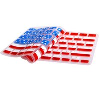 Wholesale 2016 Keyboard cover UK US National Flag Silicone Keyboard Protector For MacBook Pro Air Retina inch Waterproof Dust