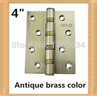 antique brass hinge - one pair top brand GUTE High Quality inch furniture hinge stainless steel hinge Antique brass color door hinge