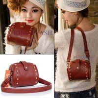 Wholesale NEW Small pu leather rivet mobile phone camera bag ladies shoulder handbag women satchel casual bag messenger bag B003 SV000197