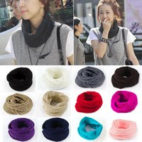 Wholesale 2015 Hot Selling New Arrivals Fashion Ladies Women Wool Knit Winter Warm Knitted Neck Circle Cowl Snood Scarf Fx250