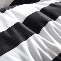 alternative design - All Season Luxurious Down Alternative Twin Full Queen King Size Comforter White and Black Stripe Quilted Design