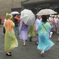 Wholesale New pvc Travel Essentials Disposable PE Raincoat hat rain Poncho manufacturer random color