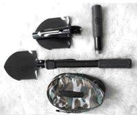 Wholesale Mini Multi function Folding Shovel Survival Trowel Dibble Pick Camping Outdoor Tool Spade dhl freeshipping