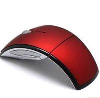 Wholesale USB Wireless GHz Cordless Arc Folding Foldable Mouse For Laptop Desktop Tablet PC